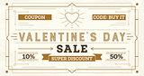 Valentine's Day Sale Retro Background.