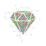 Diamond circles Abstract