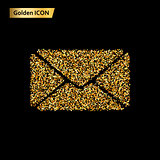 envelope gold icon