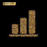 statistics gold icon