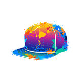 splash of watercolors baseball cap