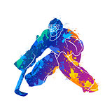 player hockey goalie