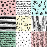 Set of abstract seamless patterns