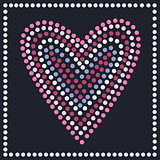 Graphic heart in dots