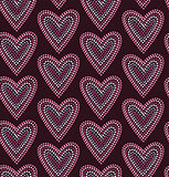 Seamless pattern graphic heart in dots
