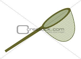 Fishing net. icon flat, cartoon style. Isolated on white background. Vector illustration, clip-art.