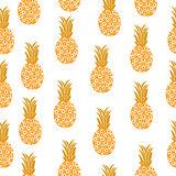 Pineapple seamless texture. Pineapple background, wallpaper, fabric. Vector illustration.