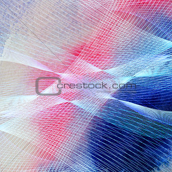 Bright graphics multicolored waves abstraction