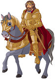 Medieval King Horseback