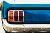 Closeup on the taillight