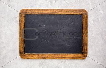 Small empty chalkboard