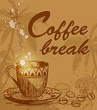Coffee break background