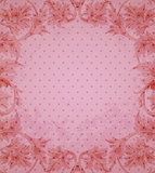 Vintage floral pink background