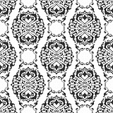 Seamless abstract floral geometrical ornament