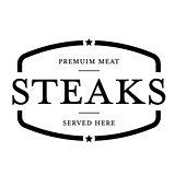 Premium Beef Steaks vintage stamp