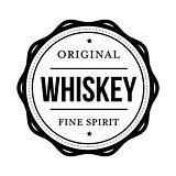 Whiskey vintage stamp sign