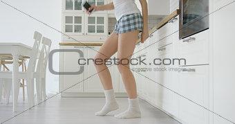 Crop view of dancing girl
