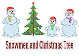 Cartoon Snowman Set