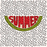 Unique lettering poster with a word Summer.