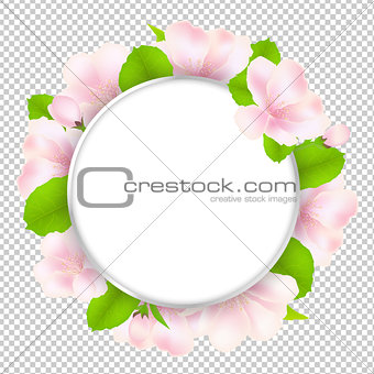 Apple Tree Flowers With Speech Bubble