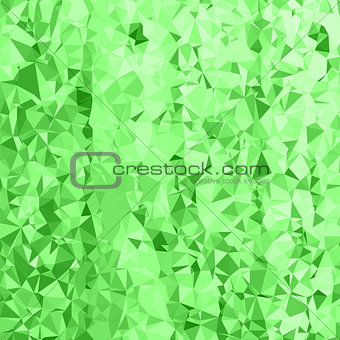 Abstract Green Polygonal Background.