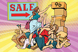 Women battle for discount on sale