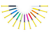 Colorful Syringes Round Set