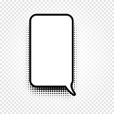 Isolated abstract black and white color comic speech balloon icon on checkered background, dialogue box sign, dialog frame vector illustration