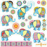 decorated cartoon elephants