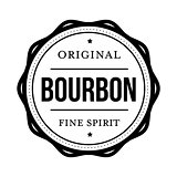 Bourbon vintage stamp sign
