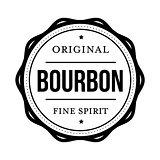 Bourbon vintage stamp sign