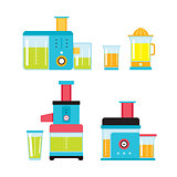 Juicer Mixer Blender Kitchen Colorful appliance set