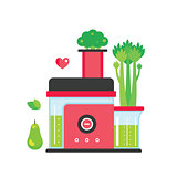 Making green juice and smoothie Colorful mixer Kitchen appliance background
