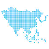 Asia made of dots