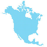 North America made of dots