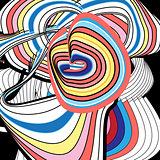 Bright graphics multicolored abstraction