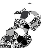 Vector abstract geometrical objects