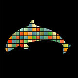 Dolphin symbol friendship color silhouette animal