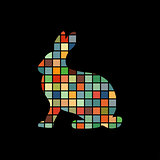 Hare wild color silhouette animal