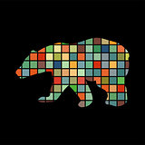 Bear wild color silhouette animal