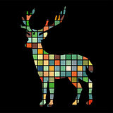 Deer woodland color silhouette animal
