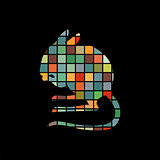 Jerboa rodent mammal color silhouette animal