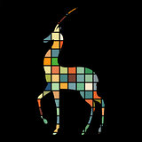 Antelope mammal color silhouette animal