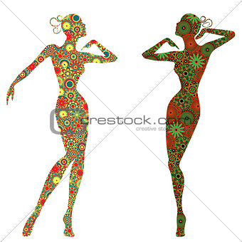 Abstract Graceful Lady Bodies