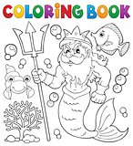 Coloring book Poseidon theme 1