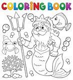 Coloring book Poseidon theme 1