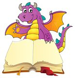 Open book with happy dragon