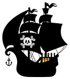 Pirate vessel silhouette theme 1