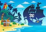 Pirate vessel silhouette theme 4