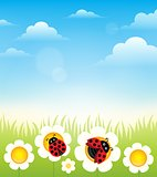 Spring topic background 6